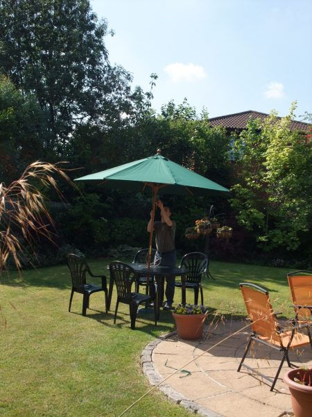Putting The Parasol Up