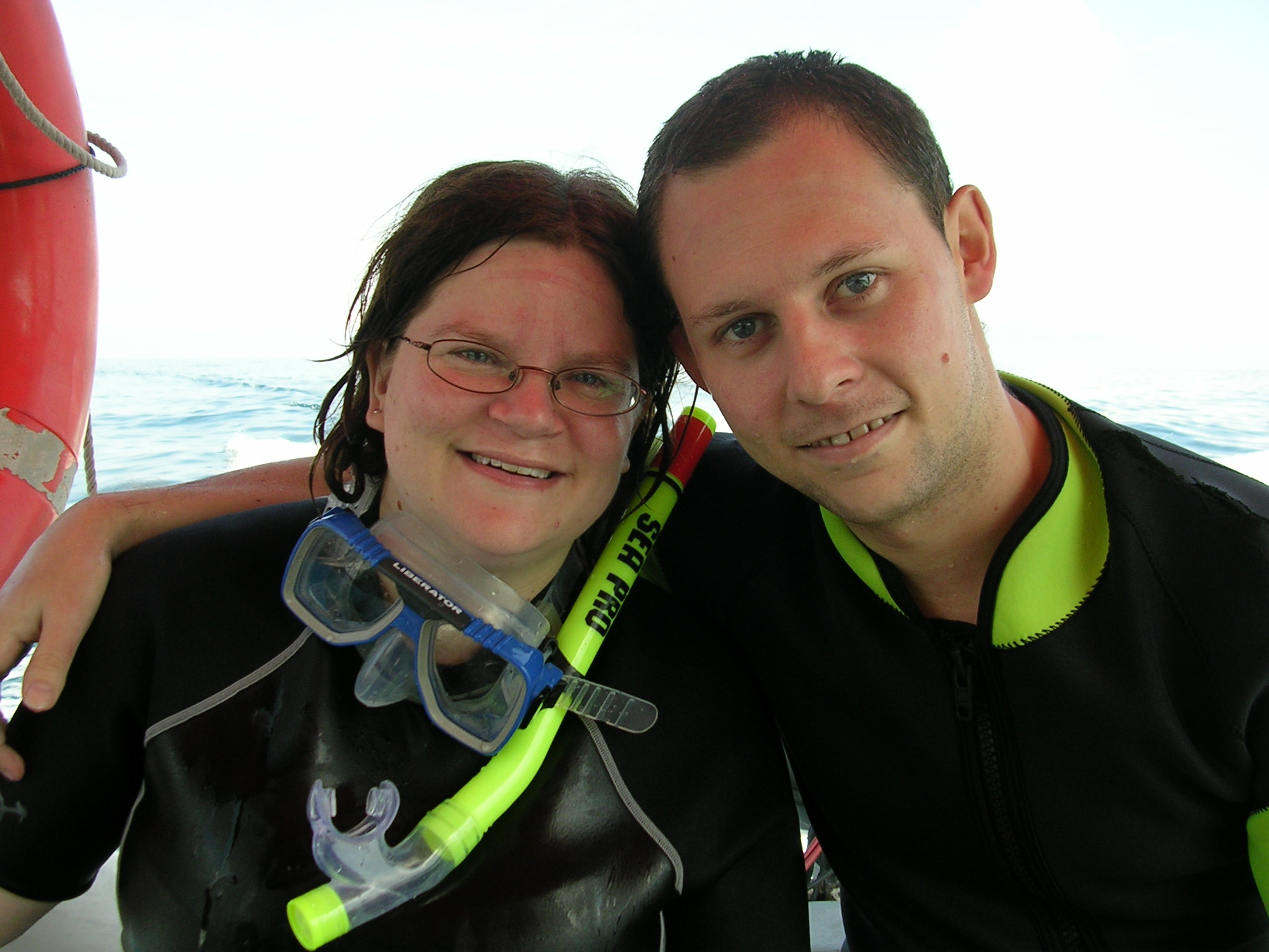 Just after our 2nd boat dive of the weekend
