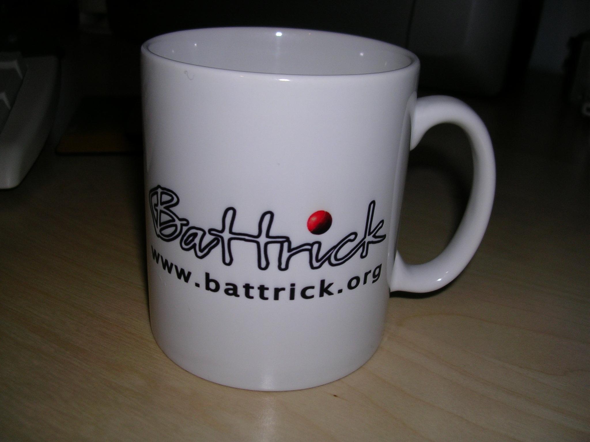 Front of the BT mug