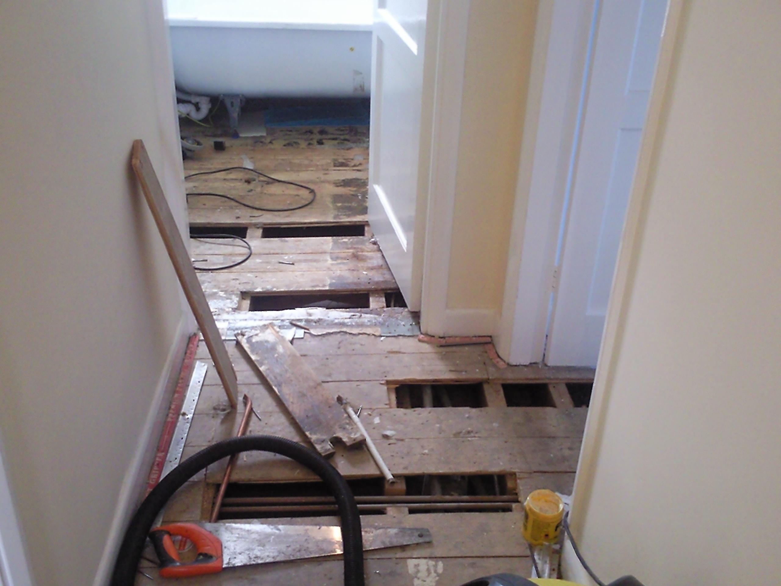 Floorboard holes